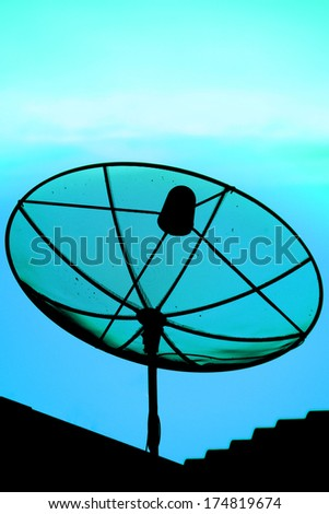 The silhouette Satellite dish
