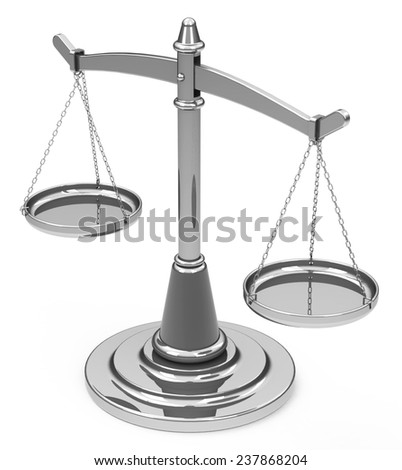 the silver scale - stock photo