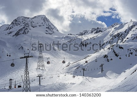 "The ski-region ""Stubai"" near Innsbruck in Austria - stock photo"