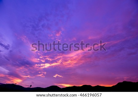 The sky in twilight time background.