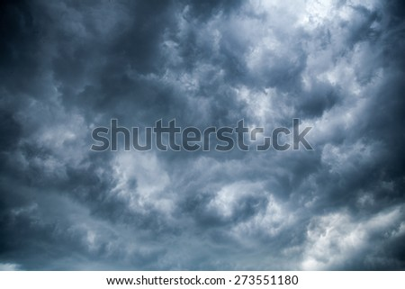 The sky was overcast with clouds before the rain is heavy. - stock photo