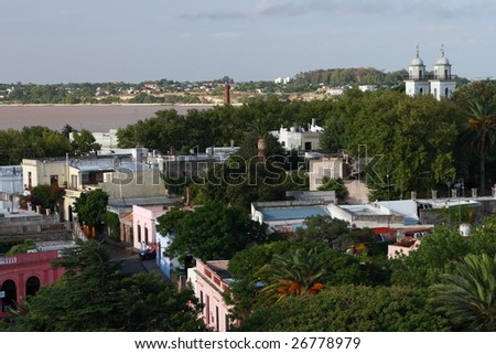 The skyline of Colonia, Uruguay