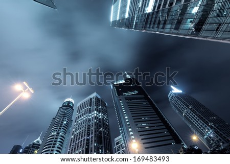 The skyscraper in city