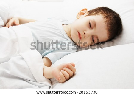 The sleeping boy