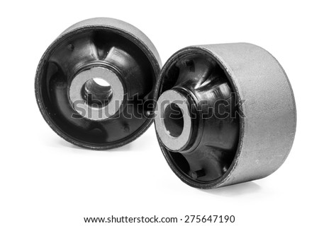 The sleeve of the suspension of the car on a white background - stock photo