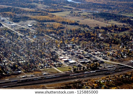 the small resort town of Whitefish In Western Montana USA - stock photo