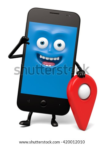 The smartphone and a locator