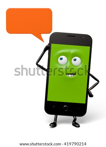 The smartphone has SMS function