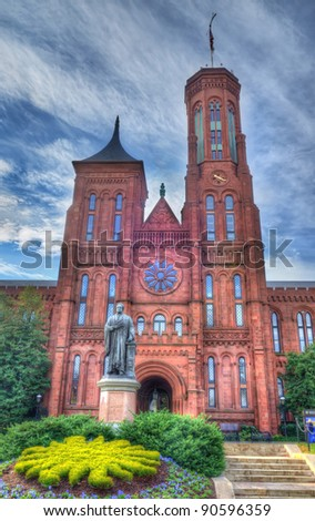 The Smithsonian Castle - stock photo