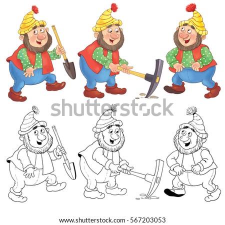 dwarf stock images, royalty-free images & vectors | shutterstock - Hobbit Dwarves Coloring Pages