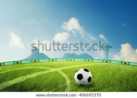 The soccer field 3D Illustration