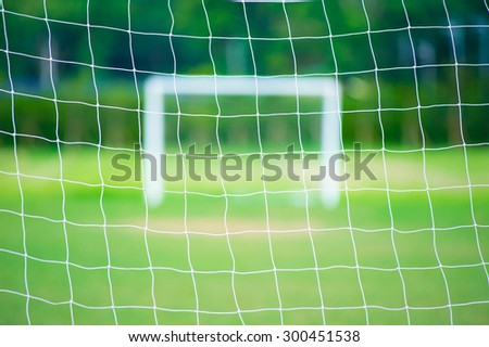 the soccer or foot ball net - stock photo