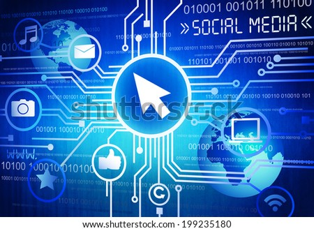 The Social Media - stock photo