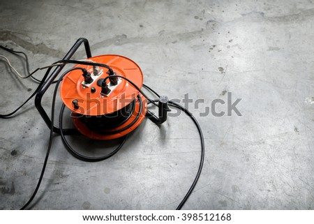 The socket is used on the floor - stock photo