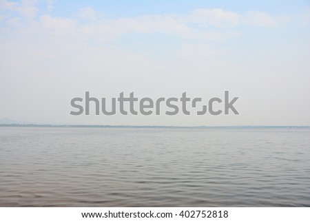 The soft cloud and the sea - stock photo