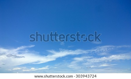 The soft cloud is on the blue sky - stock photo