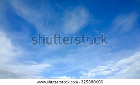 The soft cloud on the sky - stock photo