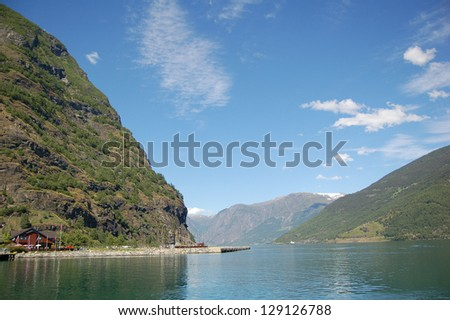 The Sognefjord, the Norway's longest and deepest fjord.