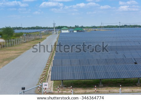 The solar farm for green energy in Thailand - stock photo