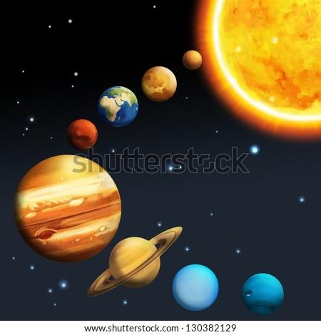 Solar System Milky Way Astronomy Kids Stock Illustration ...