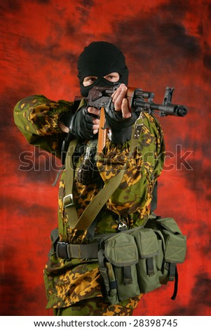 The soldier of group of a special forces. - stock photo