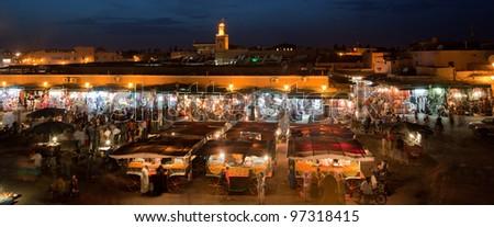 The Souks, Marrakesh, Morocco - stock photo