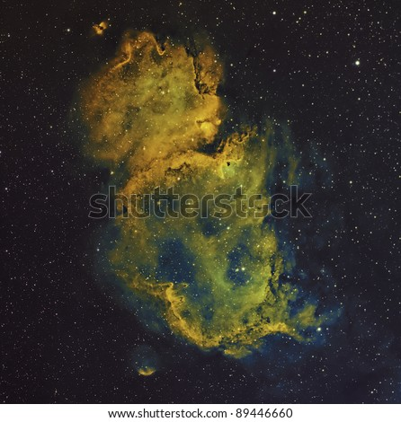 The Soul, A Bright Nebula in Cassiopeia - stock photo