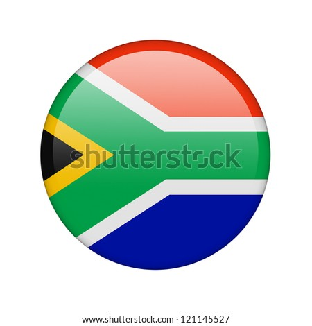The South African Republic flag in the form of a glossy icon.