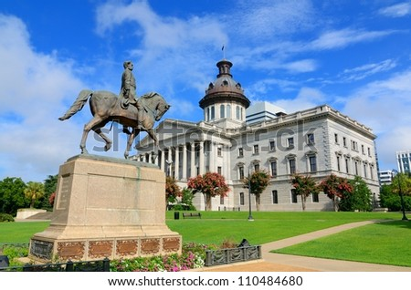 The South Carolina State House in Columbia. - stock photo