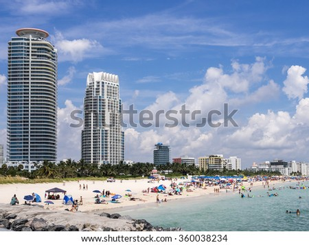 The South of South Beach - stock photo