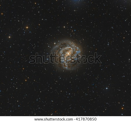 The Southern Pinwheel Galaxy - stock photo