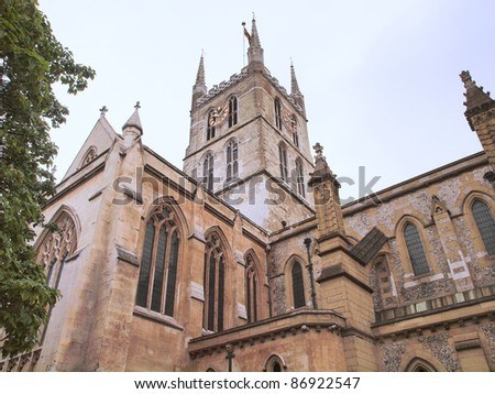 The Southwark Cathedral church, South Bank, London, UK