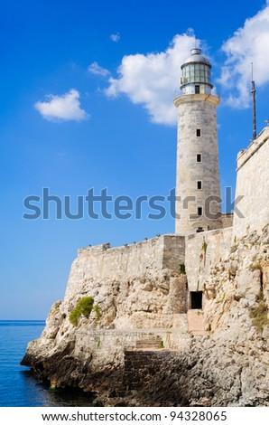 The spanish fortress of El Morro in Old Havana - stock photo