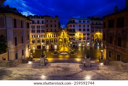 The Spanish Steps in Rome . Italy. - stock photo