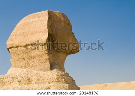 The Sphinx in Giza, near Cairo, Egypt