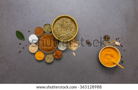 The spice and herb for healthy care, cooking foods or design project. - stock photo