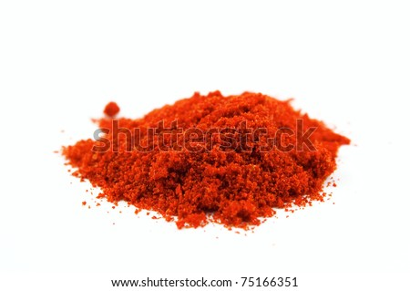 the spice Paprika isolated on white