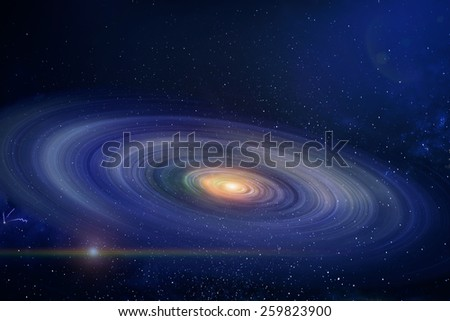 the spiral galaxy - stock photo
