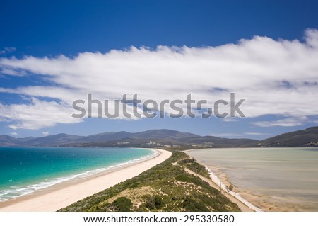 The Spit Lookout, Bruny Island, Tasmania - stock photo