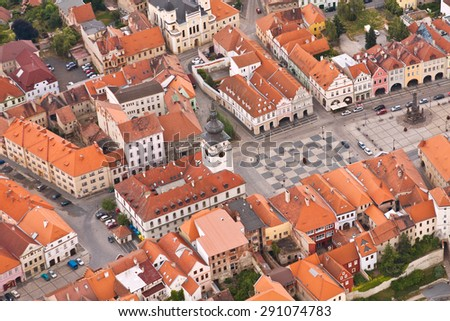 the square of city Zatec - Czech Republic - Europe
