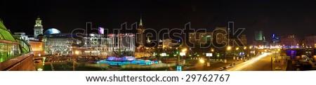The square of Europa. Moscow. Kievskiy station. Panorama. - stock photo