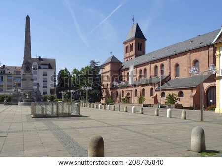the St Martins Church in Worms, a city in the Rhineland-Palatinate in Germany - stock photo