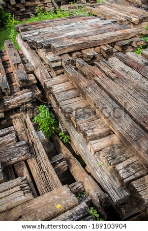 The stack up of the old wood