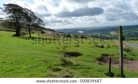 The Staffordshire Moorlands. Part of the Pennine Chain that forms the backbone of England