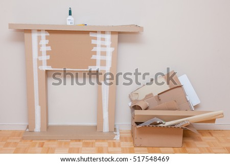 Stage diy do yourself making home stock photo royalty free the stage of diy do it yourself making home decorative mantelpiece for christmas holidays solutioingenieria Image collections