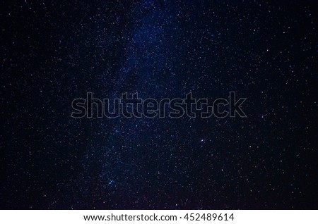 The star night sky in space