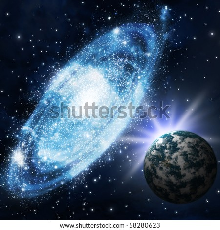 The stars and galagy. Astronomy background and cosmos - stock photo