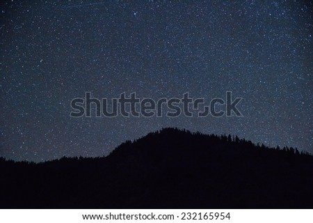 The Stars from Yellowstone Park - stock photo