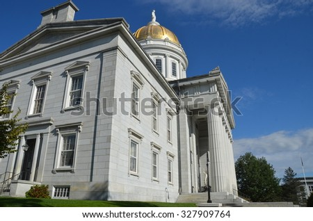 The State Capitol Building in Montpelier Vermont, USA - stock photo