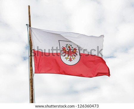 The state flag of the Republic of Austria